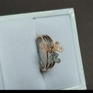 Gold 14k Butterfly Diamond Ring